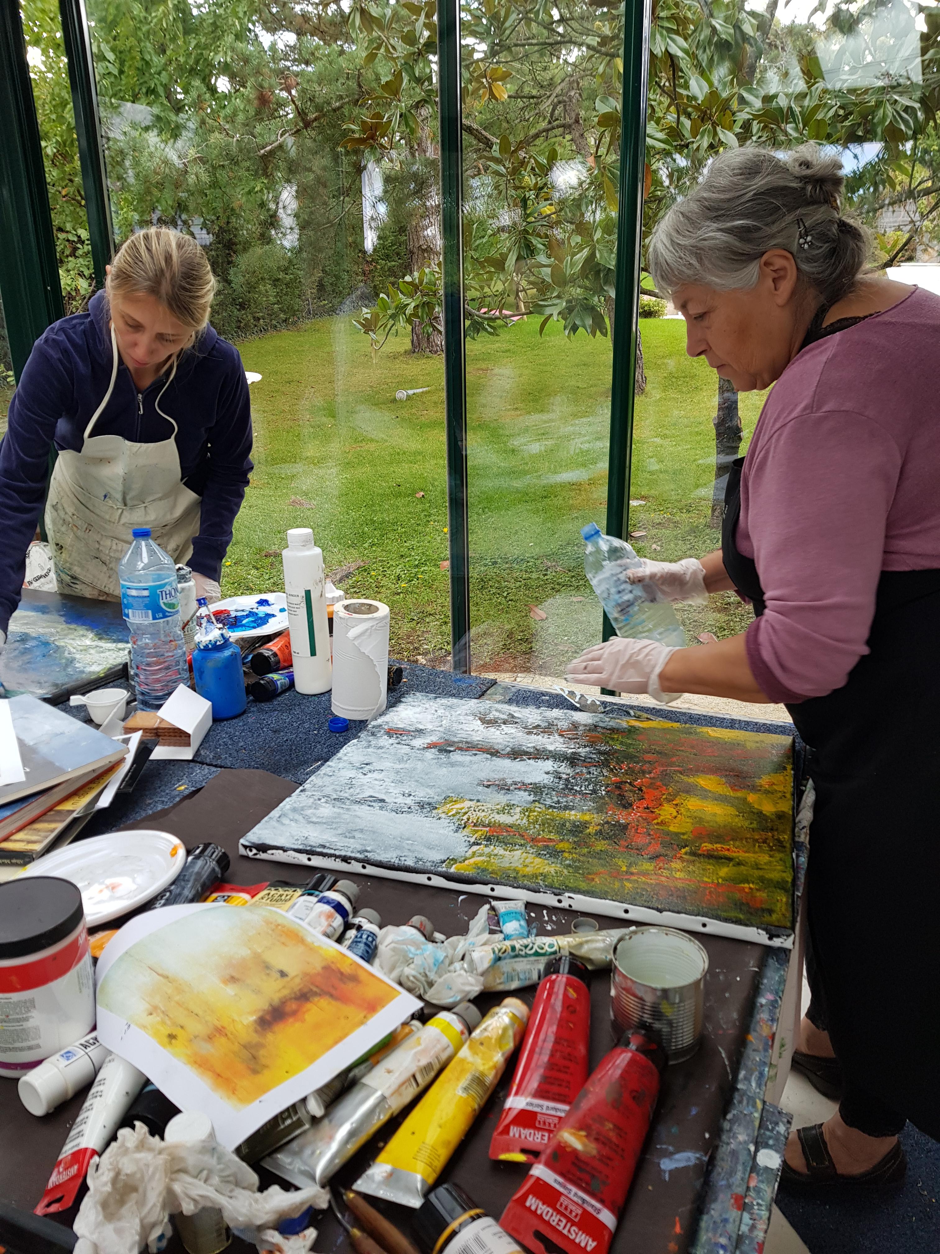 Peindre en pleine nature est idéal pour trouver l'inspiration!